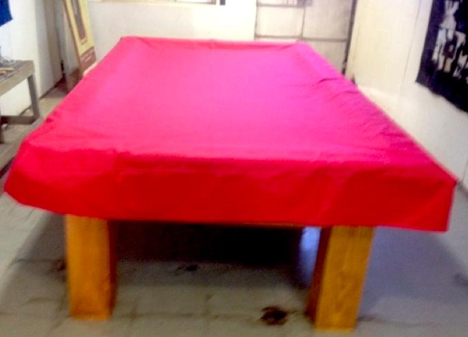 Funda para mesa de pool impermiable color rojo
